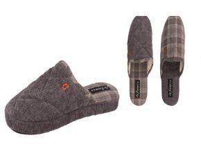 Pánská domácí obuv De Fonseca Milano IM523 BEIGE/GRIGIO