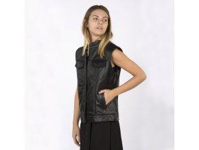 Dámská kožená vesta NEW ROCK W-NRLWJ010-S1 WOMEN LEATHER JACKET