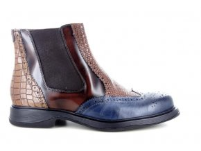 Pánská kotníková obuv BENSON 3850 BLU/BRUCIATO
