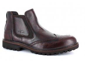 Pánské kotníčkové boty BSL 14021TRI REDDISH BROWN