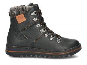 Dámská zimní kotníčková obuv NAGABA 329 BLACK RUSTIC