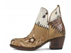 Dámská obuv SENDRA 14617 DEPLUS FLOTA TANG-VACA PELO ACID BIANCO-MOCA