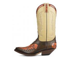 Pánská westernová obuv SENDRA 2720 NATUR ANTIC JACINTO-PYTHON CALENDULA-SAL