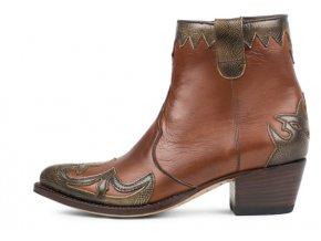 Dámská westernová obuv SENDRA 13240 LIA DENVER CANELA-SALVAJE CUOIO U/M MELT.200
