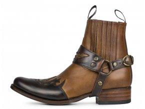 Pánské westernová obuv SENDRA 7811 DIER BRITNES FLO MARRON-EVOL.TANG