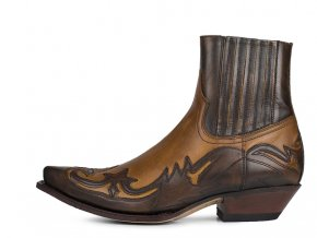 Pánská westernová obuv SENDRA 16598 CUERVO NATUR ANTIC JACINTO/EVOLUTION TANG U/M