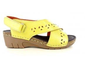 Dámské sandály MARY SOFT 887 YELLOW