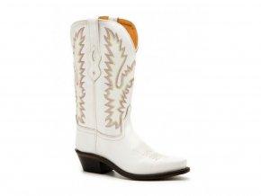Jama Old West LF1521E WHITE dámská westernová obuv