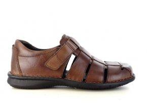 Pánské letní sandály ZEN 7807 MARRONE
