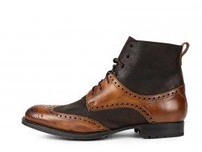 Pánská kotníčková obuv SENDRA 10776 BENNY VAQUET SEGO CUOIO /OLD MARTNES CROSTE