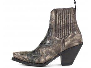 Dámská westernová obuv SENDRA 16409 GORCA HURRICANE MARFIL-PICARA CENIT-BALY NEGRO