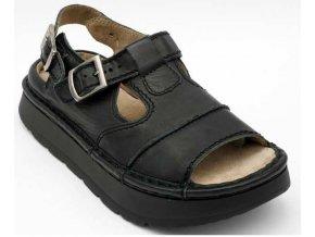 Sandály LESTA UNISEX 1004-2-1093 černá pull up