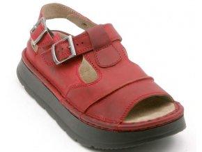 Sandály LESTA UNISEX 1004-2-2296 červená pull up