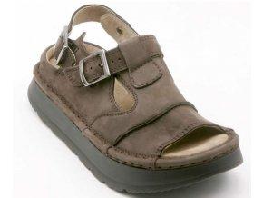 Sandály LESTA UNISEX 1004-2-2196 hnědá pull up