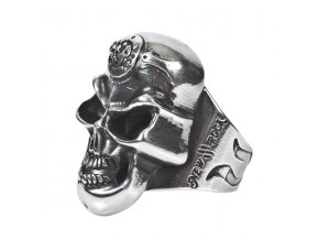 PRSTEN NEW ROCK M.SKULLRING-S1 SKULL RING BIG 24mm Diameter. 537002-N GRAN
