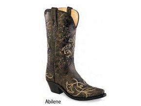 Jama Old West LF 1587 ABILENE VINTAGE CHARCOAL dámská westernová obuv