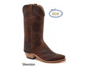 Jama Old West Boots LF1600E SILVERSTON BROWN PULL UP dámská westernová obuv