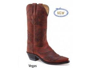 Jama Old West Boots LF1605E VEGAS BURGUNDY PULL UP dámská westernová obuv