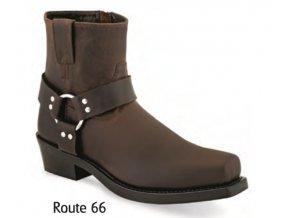 Pánské westernové boty Jama Old West MB2059 ROUTE 66 BROWN PULL UP