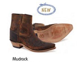 Westernové boty Jama Old West MF1516 MUDROCK BROWN PULL UP