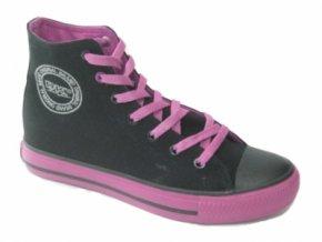 Dámská plátěná obuv DK 14SS039 BLK/PURPLE