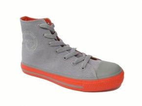 Dámská plátěná obuv DK 14SS039 GREY/ORANGE