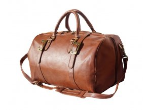 Cestovní kožená taška art. 7503 hnědá