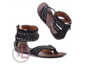 Římský sandál Y35 BLK