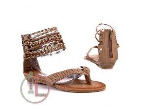 Římský sandál V1238 taupe