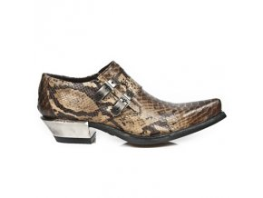 BOTY NEW ROCK M.7934-S5 SNAKE CUERO, WEST NEGRO ACERO