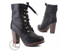 SHOES WORLD SD12-S11 BLACK obuv dámská zimní