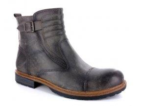 Pánské kotníkové boty BSL 15009 iron grey