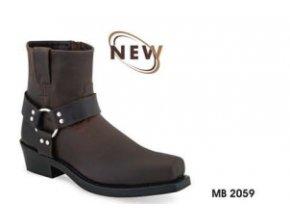 Pánské westernové boty Jama Old West MB2059 brown
