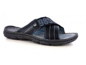 Pánské letní pantofle PER UOMO 7044 NERO