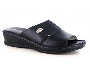 Dámské kožené pantofle FLORANCE 22505PI BLACK