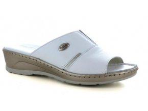 Dámské kožené zdravotní pantofle FLORANCE 22505PI BIANCO