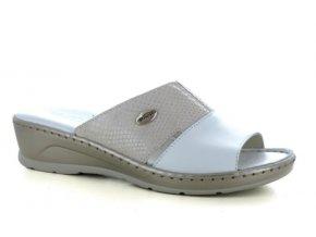 Dámské kožené pantofle FLORANCE 22506 BIANCO