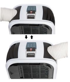 Mobilní klimatizaci Comedes MK 2000 NEO si můžete postavit i na balkon