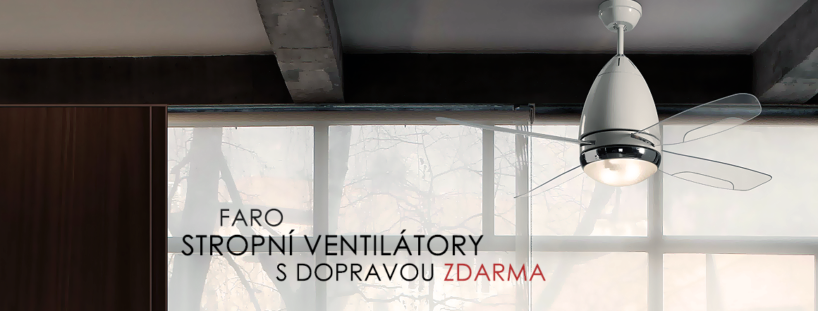 Stropní ventilátory s dopravou zdarma