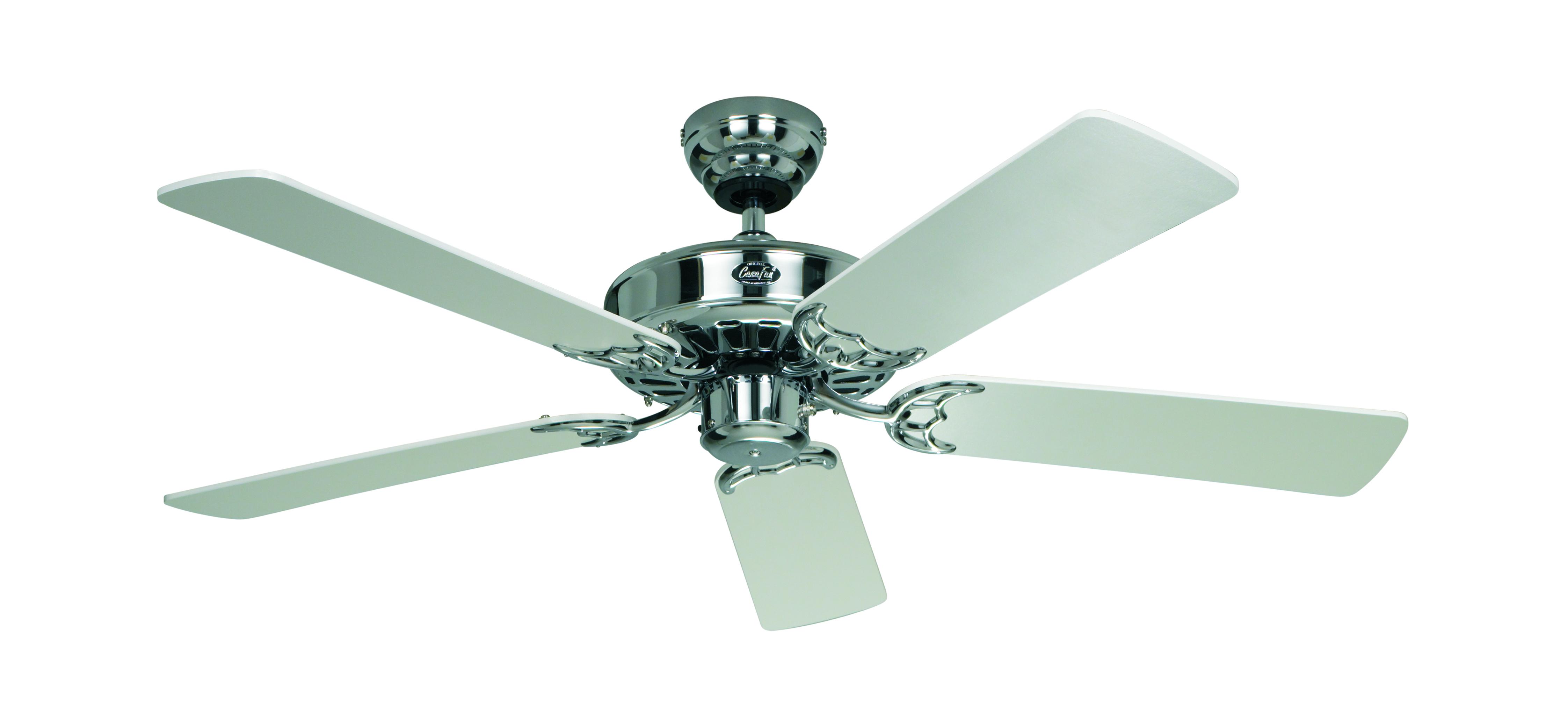 Stropní ventilátor CasaFan Classic Royal 103/1320 mm v barevném provedení bílá/chrom