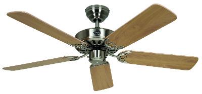 Stropní ventilátor CasaFan Classic Royal 103/132 cm v barevné variantě buk - saténový chrom