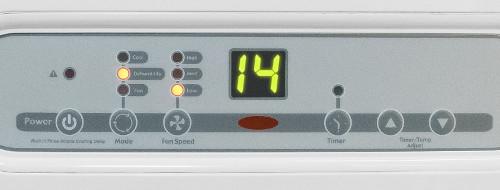 detail na displej mobilní klimatizace Trotec PAC 3500