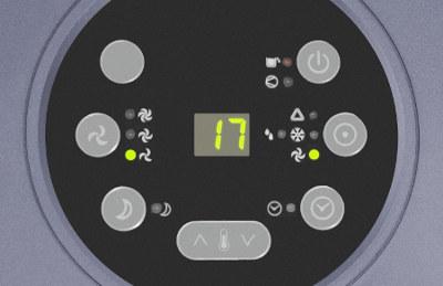 detail displeje mobilní klimatizace Trotec PAC 3500 X