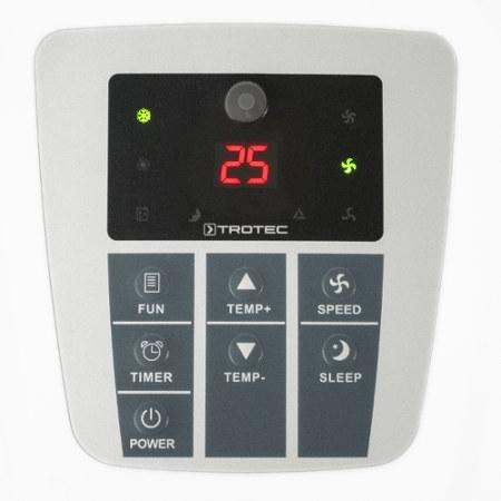 detail na ovládací panel mobilní klimatizace Trotec PAC 2000 X