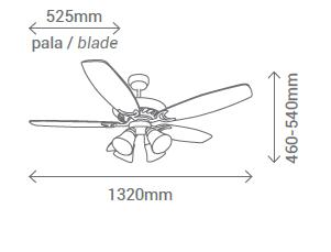 Schéma stropní ventilátor Sulion 072619 Stroke