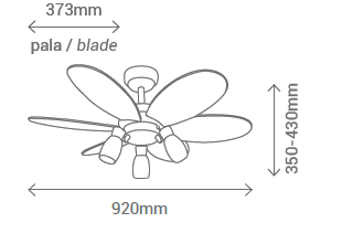 Schéma stropní ventilátor Sulion 072645 Tones