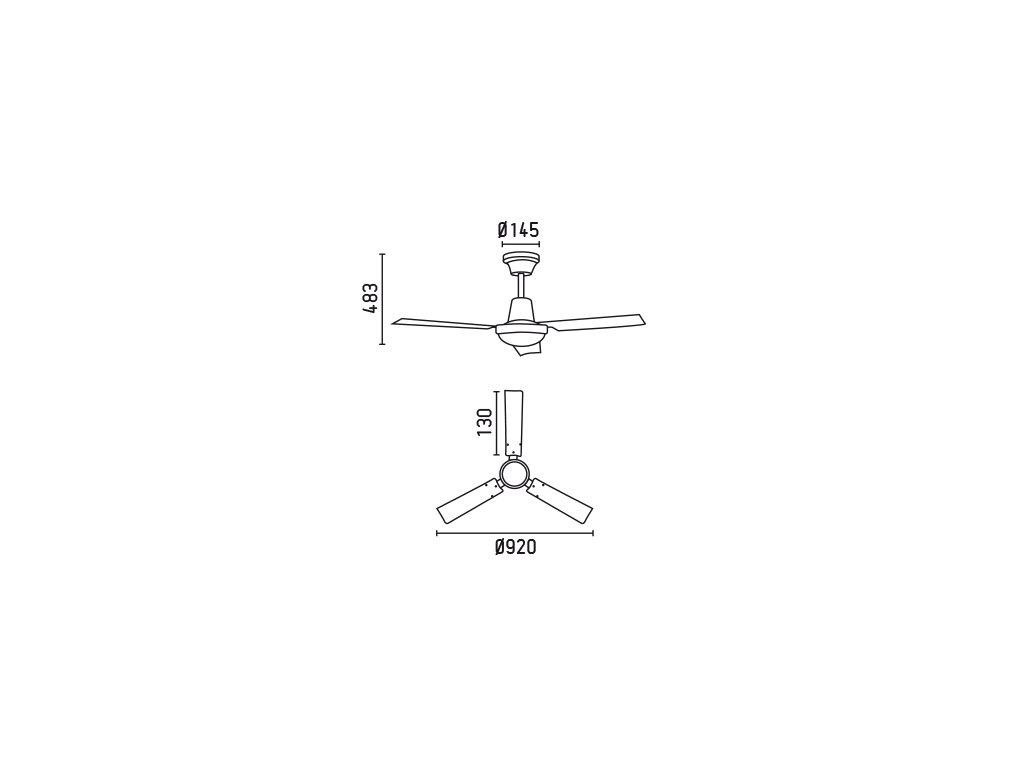 Schéma stropní ventilátor faro 33011 mini indus