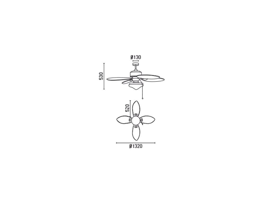 Schéma stropní ventilátor faro 33019 lombok
