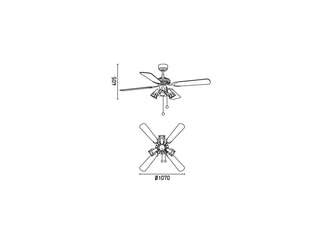 Schéma stropní ventilátor faro 33175 jaca