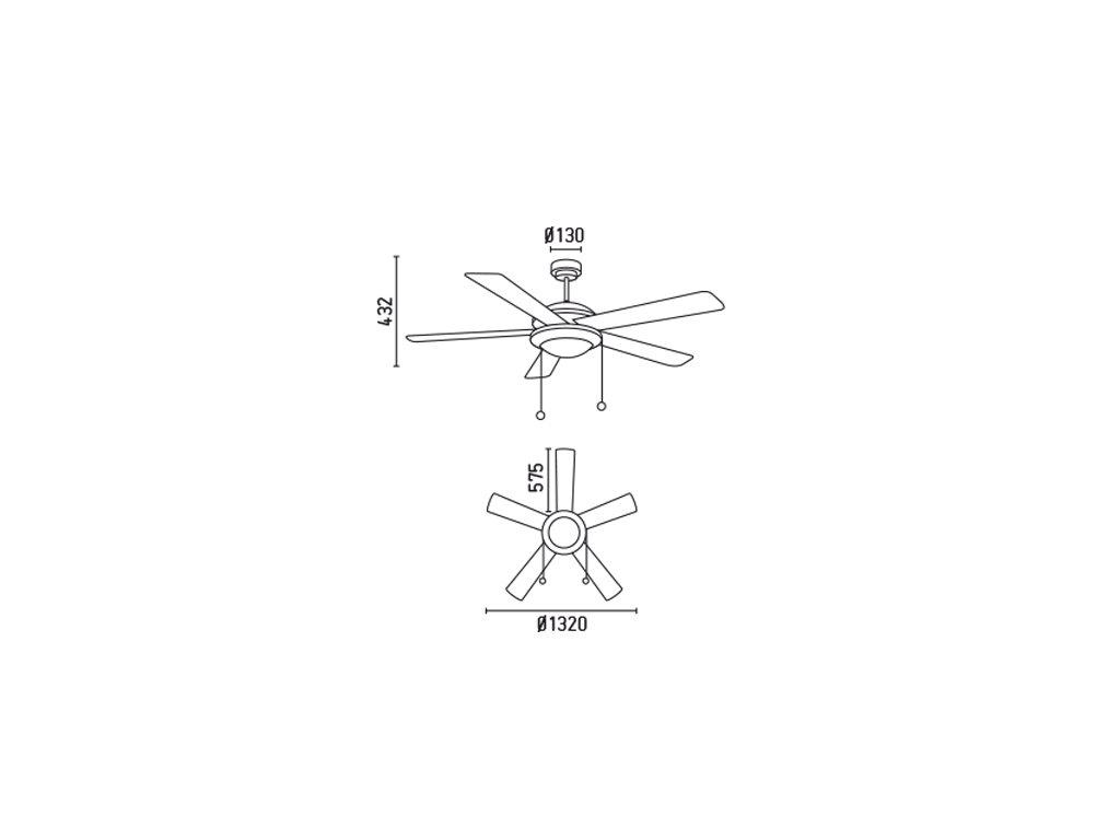 Schéma stropní ventilátor faro 33190 manila